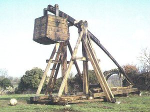 "A trebuchet. Also, the only response necessary if someone asks: ""what so cool about physics, anyway?"""